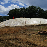 Corman Covered Stockpile with Plastic, East Gore