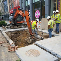 Excavation for Combine Sewer Manhole MH-07 between P Street and Q Street Eastside