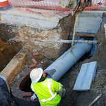 "Installation of 15"" PCC connection Pipe across from 14th and Swann"