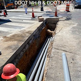 Conduit between DDOT MH-B & DDOT MH-I
