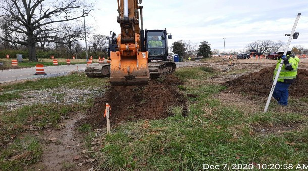 Excavation for Bioswale, East Gore.