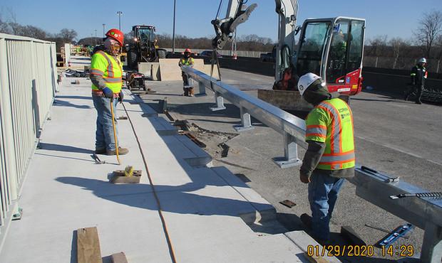 Installing North Bridge Historic Railing