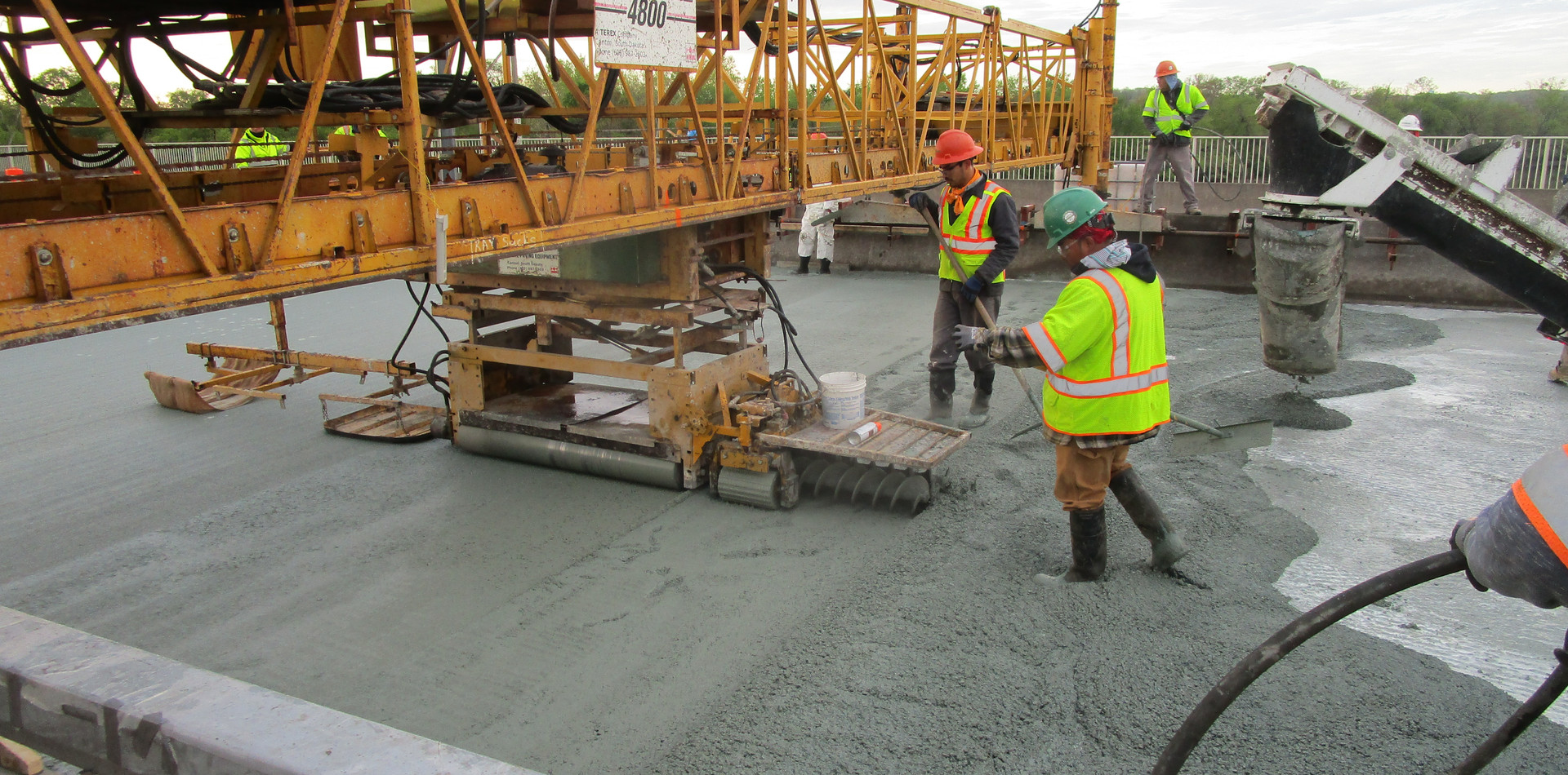 Latex Modified Concrete Overlay North Bridge