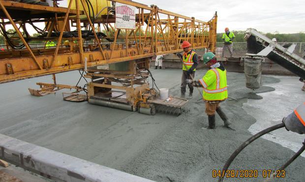 Latex Modified Concrete Overlay North Bridge