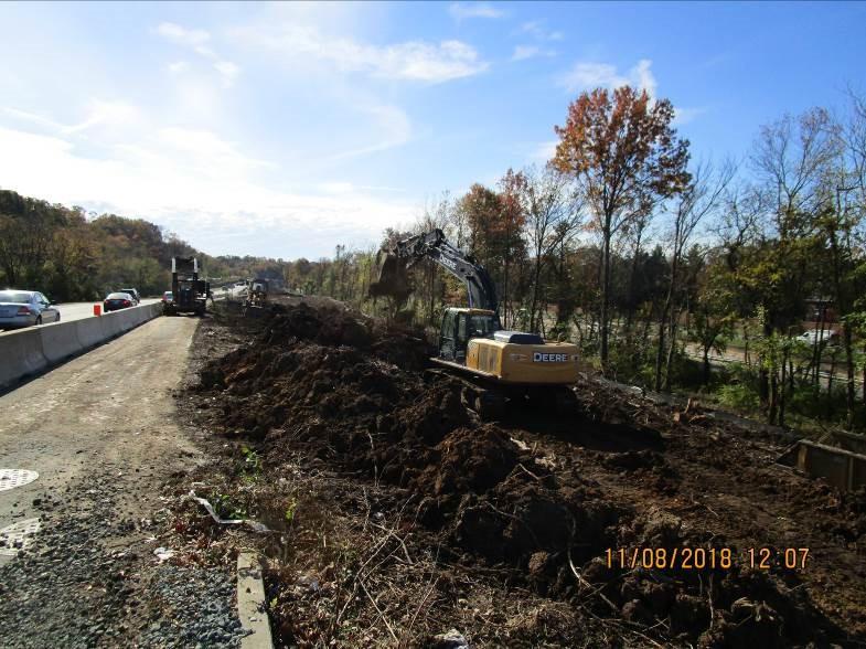 Excavation on SB I-295