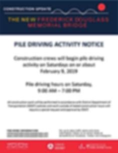 FDMB_Saturday Pile Driving Notice_02-09-