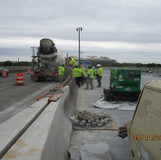 Repairing Median Barrier, South Bridge.