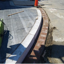 Brick gutter placed at SEC of 14th & T St.