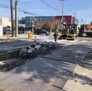 Contractor demolished surface toward 68+00 (MLK & Cypress Street)