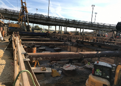 East Abutment: Cleanout Piles