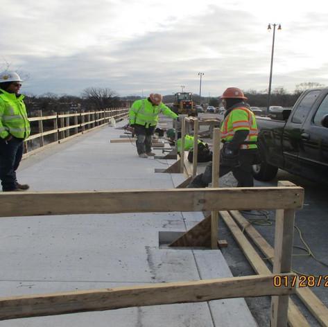 Installing Guard Rail, North Bridge