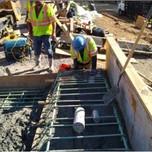Key-way installation in progress on Moment slab on Bridge # 1016 Abutment-A over I-295NB