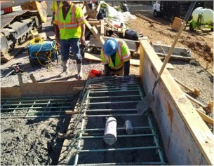Key-way installation in progress on Moment slab on Bridge # 1016 Abutment-A over I-295NB