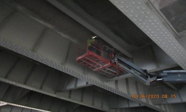 Underneath Deck Repair, South Bridge.