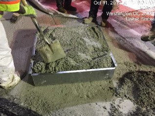 Yield verification on Latex concrete