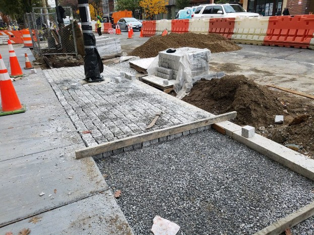 Installation of Permeable Pavers (Granite Cobble Stone) between N Street and Rhode Island Ave