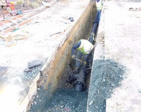 "Installation of 8"" Water Main on T Street on Westside"
