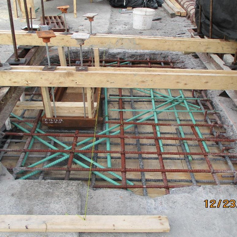 Scupper Installation, North Bridge.
