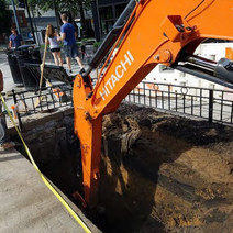 Excavation for Double Catch Basin at Rhode Island Ave on the Westside