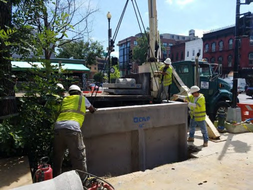 Installation of Double Catch Basin t NE corner of 14th and P Street