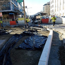 Installation Bump Out at 14th and Riggs Street