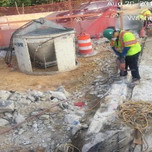 Installing rebars bridge 1017 abutment B