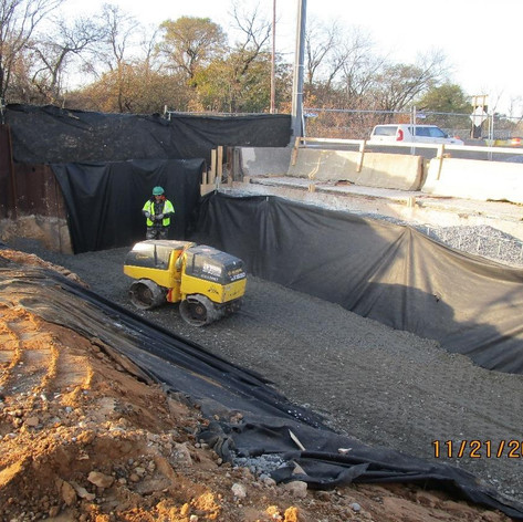 Structural Backfill at East Abutment, North Bridge.