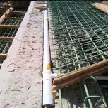 """3"""" Dia. pipe installed on backwall on AFW Bridge #1016 (I-295NB) over S. Capitol St. SWB"""