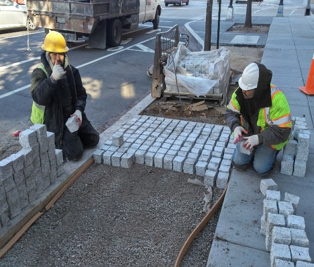 DEN getting ready to place the permeable pavers at 2019 14th Street NW