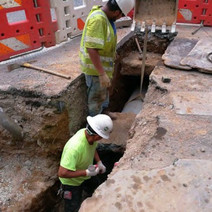 """Installation of 15"""" PCC Connection Pipe for the Double Catch Basin on the NE Corner of P Street"""
