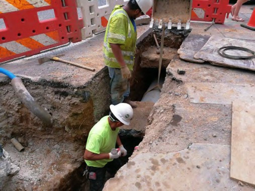 "Installation of 15"" PCC Connection Pipe for the Double Catch Basin on the NE Corner of P Street"