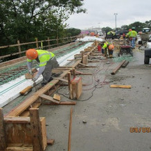 Sidewalk Rebar Installation, South Bridge.