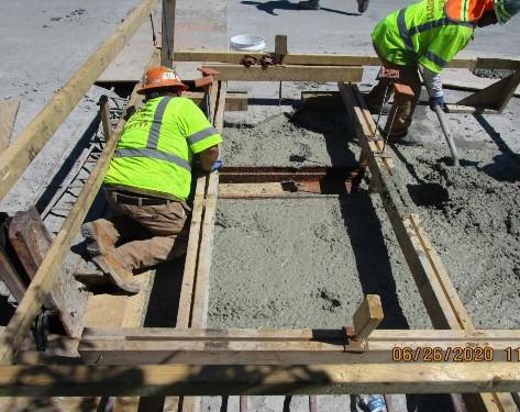 Scupper Concrete Placement, South Bridge.