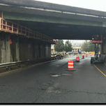 Contractor is working on the median pier cap on SB South Capitol Street SW
