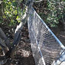 Safety Fence Shielding, NPS Property, East Approach.