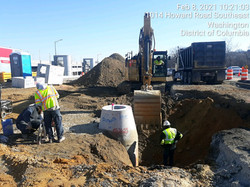 I-295 North of Howard Road-excavating for drainage structures and RCP
