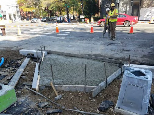 Installation of ADA Ramp at the SW corner of 14th and Rhode Island Ave