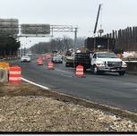 Contractor In-Placed MOT for line 1 closure on SB South Capitol Street