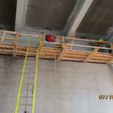 Working on Jacking Angle Installation, Pier 10 North Bridge