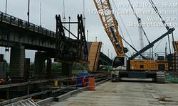 Falsework Installation for V-Pier 1