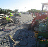 Removing Parapet, North Bridge.
