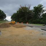 Grading along the Temporary Ramp C, at I-295 SB Ramp.