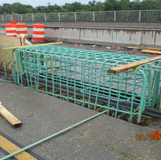 Installing Median Barrier at the Base of the Existing Overhead Sign Structure #2
