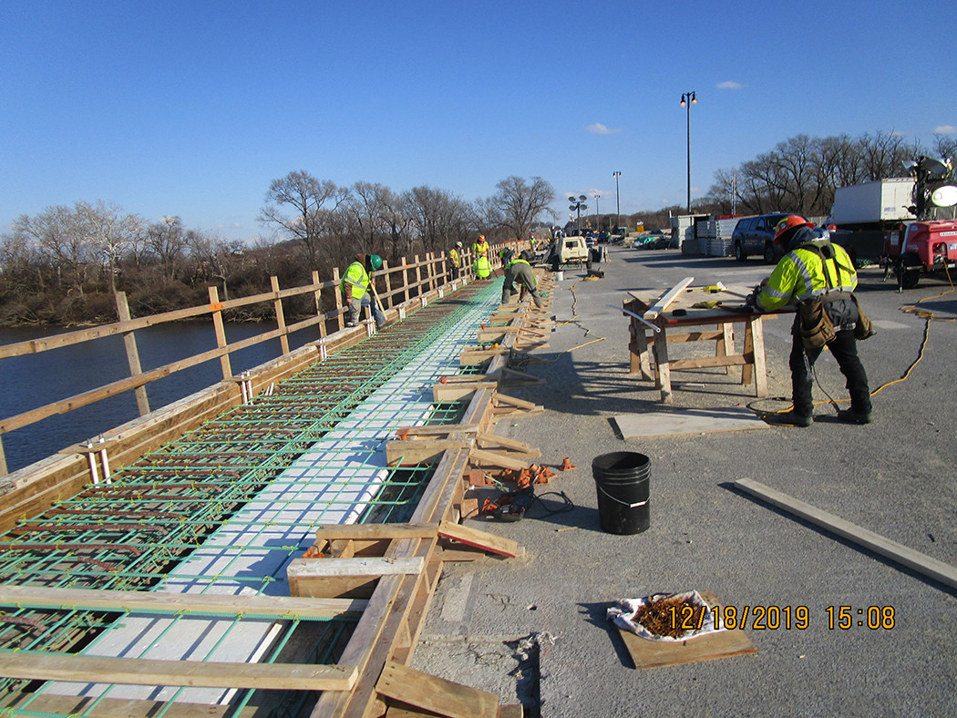 Sidewalk Rebars North Bridge