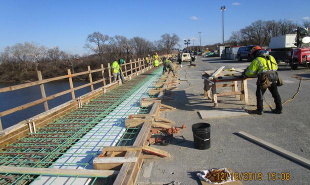 Sidewalk Rebars North Bridge
