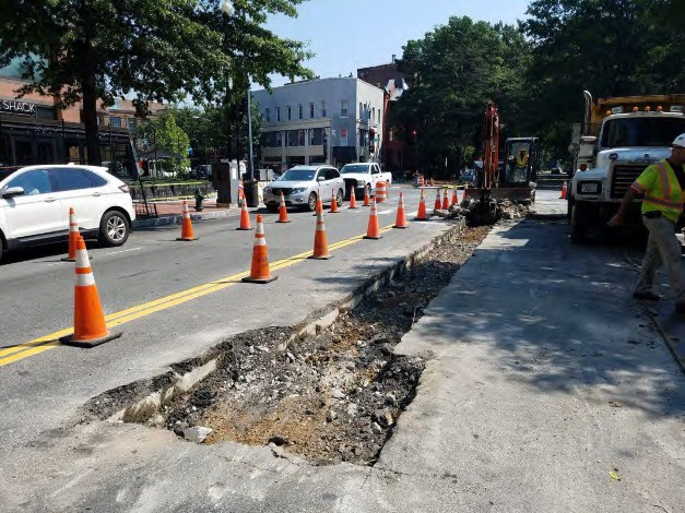 Excavation for Manhole and PVC Conduit on Rhode Island Ave on the Westside