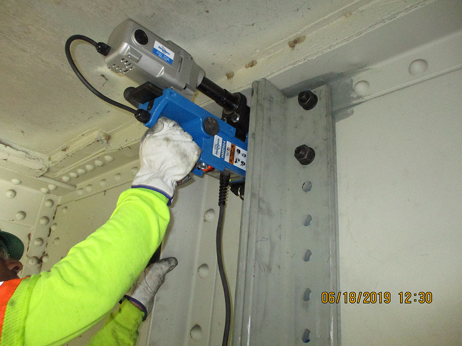 Drilling to Install Jacking Angles
