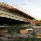 Installing Overhang Formwork, North Bridge