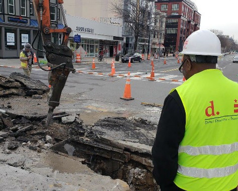 Removal of Streetcar Tracks at 14th and u Street