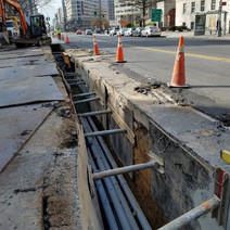Conduit installation between Thomas Circle and N Street on the Eastside